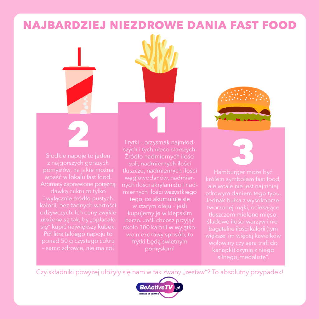 najbardziej niezdrowe dania typu fast food